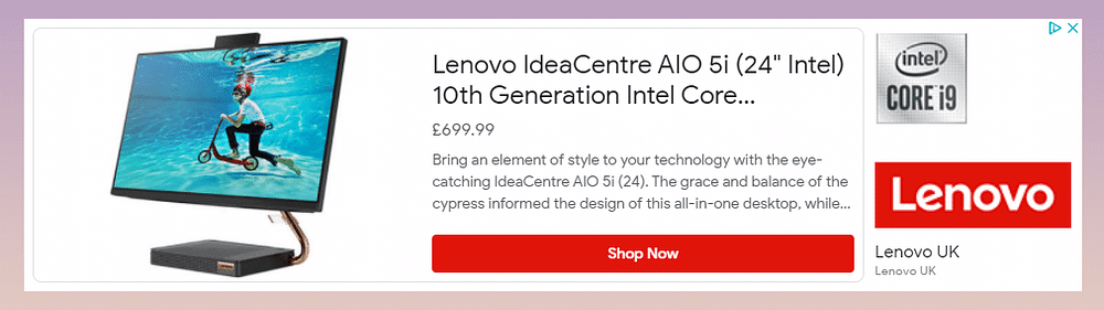 example of an ad on a website