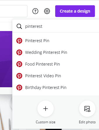 canva for creating pins