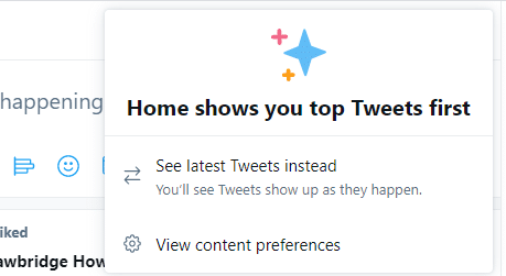 View Twitter Content Preferences