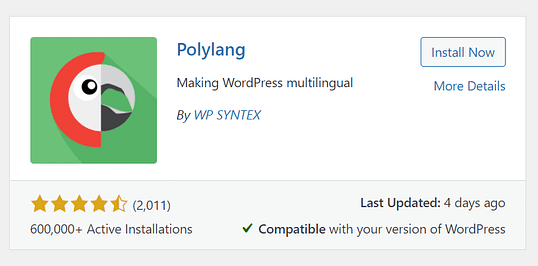polylang plugin