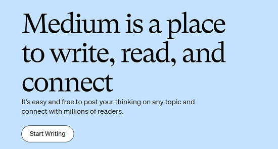 Medium is a place to write, read, and connect