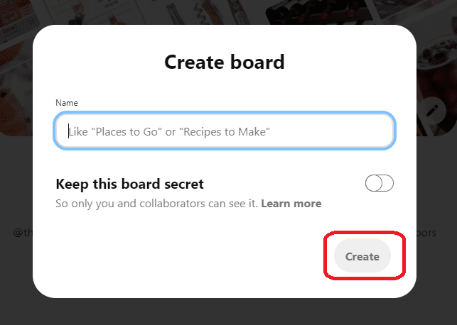 name your board