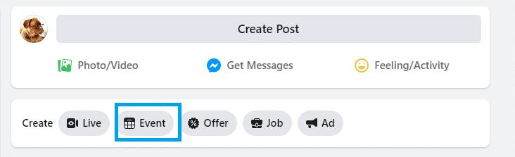create a facebook event