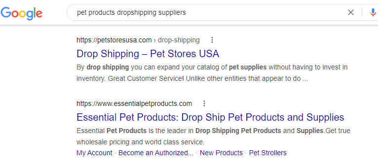 dropship pet products